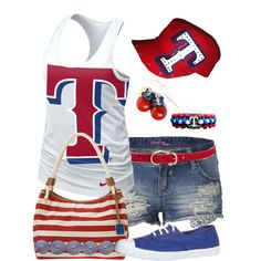 Texas Rangers by twistedribbon12, via Polyvore
