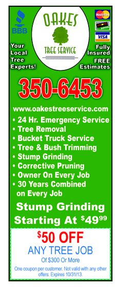 #oakes #tree #service #coupons