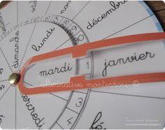 L'agenda perpétuel sur une roue avec attache parisienne