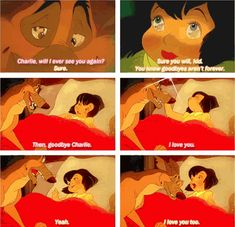 When Anne-Marie and Charlie said goodbye:   The 22 Saddest Moments From Kids Movies. Scuse me while I go cry.