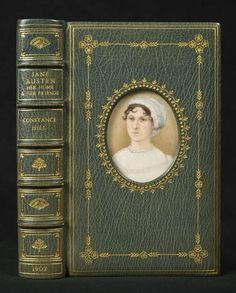 Jane Austen by Constance Hill illustrated by Ellen G. miniature by William Bennett of the Royal Miniature Society Location: The George Peabody Library, The Sheridan Libraries, The Johns Hopkins University Old Books, Antique Books, Vintage Books, Jane Austen, Book Cover Design, Book Design, Miniature Portraits, Beautiful Cover, Book Authors