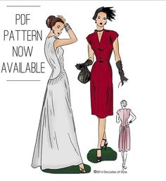 Our gorgeous #1940s Belle Curve dress is now available as a #PDFPattern! (Pattern 4014-link in profile) by decades_of_style