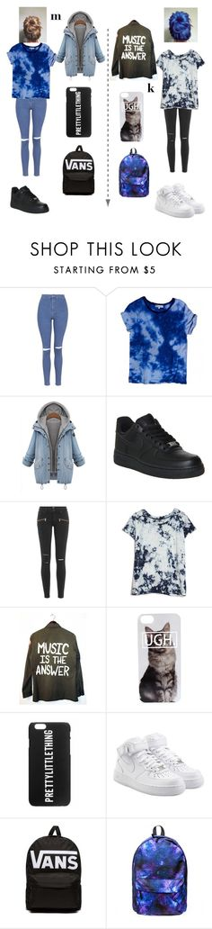"""school looks k&m #2"" by merel-meuleman ❤ liked on Polyvore featuring Topshop, Sandro, NIKE, Paige Denim, Current/Elliott and Vans"