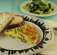 Crustless Asparagus Quiche from Aviva Goldfarb, The Six O'Clock Scramble. Perfect for Mother's Day brunch!