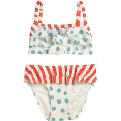 OndadeMar :: Polka Dot & Stripe Two-Piece Suit