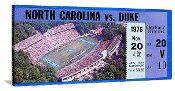 1976 Duke vs. North Carolina football ticket art. Christmas football gifts! http://www.christmasfootballgifts.com/ Best Christmas football gifts! #47straight #Christmasgifts #gifts