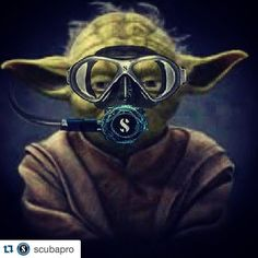 Jedi masters only use the best scuba equipment