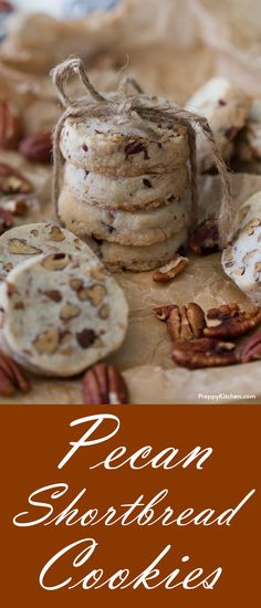 Pecan Shortbread Cookies are easy to make and can be the perfect food gifts this holiday season | #holidaygifts #holidayrecipes #cookies #comfortfood