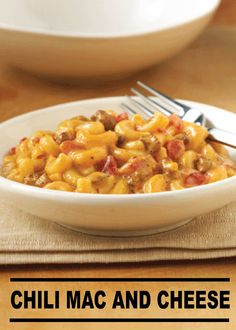 Load your Mac and Cheese with Chili to make the perfect flavor duo in ...
