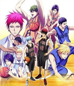 """""""Kuroko's Basketball"""" TV Anime 3rd Season Key Visual: The third season of the Kuroko's Basketball TV anime series produced by Production I.G. will premiere on its key station MBS (Mainichi Broadcasting System) at 26:58 on January 10, 2015, then on Tokyo MX at 23:00 on January 13 with BS 11 one hour later."""
