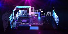 Tv Set Design, Stand Design, Display Design, Event Design, Exhibition Booth Design, Asian Makeup, Design Museum, Stage, Behance