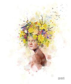 I rett jord Artist Inspiration, Art Inspo, Illustration, Drawings, Artist, Painting, Whimsical Art, Old Postcards, Pictures