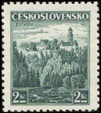 Znaczek: Zvíkov castle (Czechosłowacja) (Castles, landscapes and cities) Mi:CS 353,Sn:CS 220,Yt:CS 313,AFA:CS 217,POF:CS 307