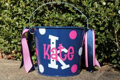 5+QUART+Personalized+Easter+Bucket++++by+StudioFourDesigns+on+Etsy,+$23.00