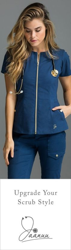 Where high-tech fabrics meet high-fashion designs. Get our latest moisture wicking, odor-resistant scrub sets, perfect for every day of the week. Cute Scrubs, Scrubs Outfit, Mrs Hudson, Medical Uniforms, Womens Scrubs, Medical Scrubs, Medical Assistant, Professional Look, Work Attire