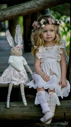 Easter with little girl and her bunny