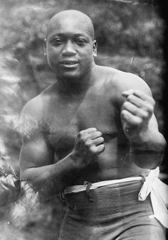 Jack Johnson; the first black Heavyweight Champion, convicted of marrying a white girl