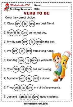 Color the correct choice ( am is are) - Worksheets PDF English Activities For Kids, English Grammar For Kids, English Worksheets For Kindergarten, English Phonics, Learning English For Kids, Teaching English Grammar, English Grammar Worksheets, English Lessons For Kids, Kids English