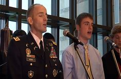 """Dying Soldier Sings One Last Song With His Son.   Lt. Col. Mark Weber of the Minnesota National Guard has been battling stage four cancer, so he knew he didn't have much time left. He took a moment, though, to sing a song with his son. The song is """"Tell My Father"""", a Civil War era tune. This will touch you deeply ......  http://www.godvine.com/Dying-Soldier-Sings-One-Last-Song-With-His-Son-2331.html"""