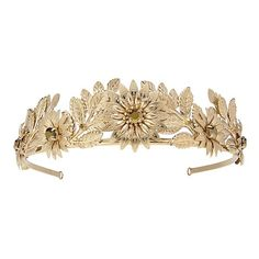 BELLE BOUQUET CROWN | HAIR ACCESSORIES ❤ liked on Polyvore featuring accessories, hair accessories, tiara and crown hair accessories