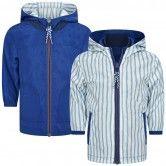 Carrement Beau Baby Boys Blue & Striped Reversible Windbreaker