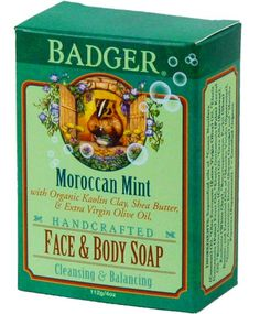 When you buy this soap bar at Soap Hope, you change the world for a woman - Soap Hope invests all the profits to lift women from poverty. *Moroccan Mint Face and Body Bar* Soap Hope brings you Moroccan Mint Face and Body Bar, an all-natural premium soap bar hand-crafted by leading maker Badger. Gently cleanse your skin with this cool, refreshing Moroccan mint bar. Kaolin clay draws impurities from the skin, while organic citrus and mint balance oil production. This soap is great for washing…