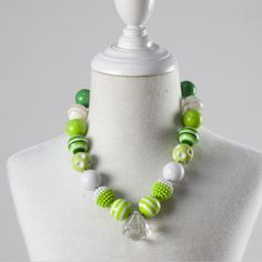 girl fashion necklace child beads bubble gum necklace kids chunky jewelry