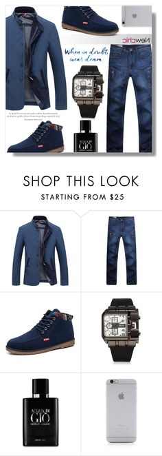 """""""Newchic *16"""" by fashion-pol ❤ liked on Polyvore featuring Agent Provocateur, Giorgio Armani, Native Union, men's fashion and menswear"""