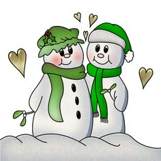 Christmas Clip art of snowman