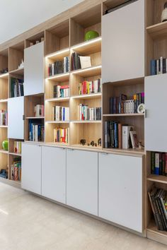 Living Room Wall Units, Living Room Cabinets, Home Living Room, Living Room Designs, Home Library Design, Office Interior Design, Office Interiors, House Design, Modern Study Rooms