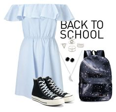"""Back to School"" by beachgirl511 ❤ liked on Polyvore featuring Estella Bartlett, Miss Selfridge, Converse, Charlotte Russe, West Coast Jewelry, BackToSchool, contestentry and justbeachgal"