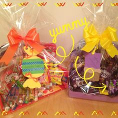 Oooohhh yummy! Homemade chocolate hamper and a homemade sweetie hamper! I made these for a raffle prize, took half an hour each, cost £10 each to make. Helping a good cause has never been quite so chocolatey! Mmmmmmmm xxxx