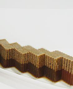 Culinary Kitchenette: Gula Melaka Agar Agar by Agnes Lee Jelly Desserts, Coconut Desserts, Asian Desserts, Mini Desserts, Sweet Desserts, Delicious Desserts, Asian Recipes, Sugar Cookies Recipe, Cookie Recipes