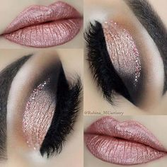 23 Glitzy New Years Eve Makeup Ideas: #2. GLAM NYE MAKEUP IDEA; #eyemakeup #makeupstyles