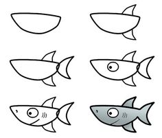 how to draw a shark - Easy Drawing Pictures For Kids