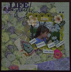 Layout: Jessi Smelling Flowers