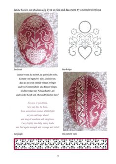 Book by Luzine Happel. Easter Eggs decorated with motifs of Schwalm Whitework made by a scratch technique.  http://www.luzine-happel.de/?page_id=2568=en