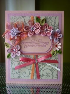 Handmade Wedding paper Quilling Card by FromQuillingWithLove