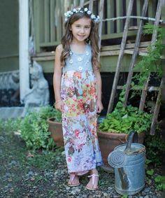 Gray & Pink Floral Jumpsuit