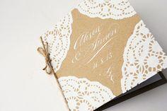 vintage doilies wedding invites