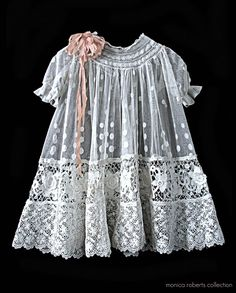 Beautiful vintage child's dress--I think we should dress our little girls like this again!  Used to design antique doll clothing