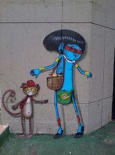 Cranio street art 000 #streetart #Brazil #Cranio