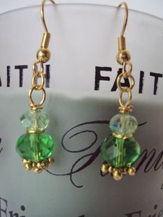 Beautiful Green With Envy Swarovski Crystal Dangle by mamabecca73, 6.95