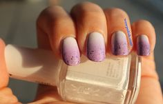 WOW Polish: Gradient Nail Art: Violet and Glitter
