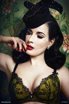 Burlesque dancer and model Dita Von Teese is a connoisseur of everything lingerie, so it should come as no surprise that she shines as the face of her various lingerie collections. Dita Von Teese Burlesque, Dita Von Teese Style, Dita Von Teese Lingerie, Sexy Lingerie, Belle Lingerie, Vintage Lingerie, Beautiful Lingerie, Burlesque Vintage, Dita Von Tease