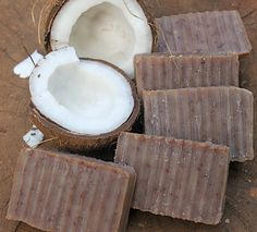 Coconut Milk Soap a Lightly Scrubby Body Bar by daisycakessoap >> love her soaps!