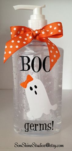 Halloween Hand Sanitizer  Large 10 Oz. by sonshinestudios on Etsy