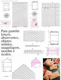 shared a photo from Flipboard Clutch En Crochet, Crochet Pouch, Knit Crochet, Crochet Bags, Crochet Handbags, Crochet Purses, Crochet Diagram, Crochet Patterns, Crochet Clothes
