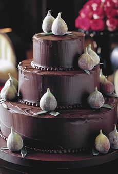 Dark chocolate wedding cake - Little Venice Cake Company