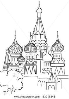 Moscow St Basils modern graphic - Google Search
